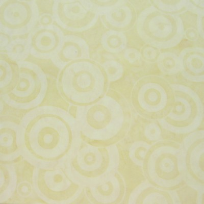 2416 Hand Dyed Batik Fabric Cream Soft Tan Circles