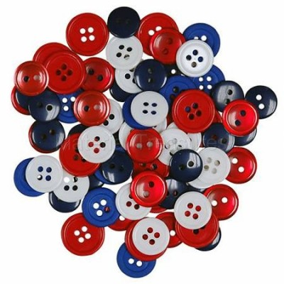 429FF Favorite Findings Patriotic Button Assortment