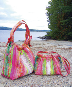 AT244 Tote Bag Pattern Bailey Island Hobo Style 2 Sizes