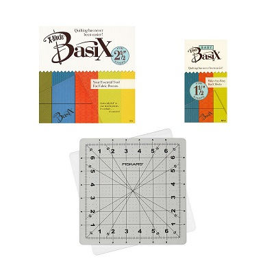 Bundle BasiX Templates and Fiskars Rotating Rotary Cutting Mat