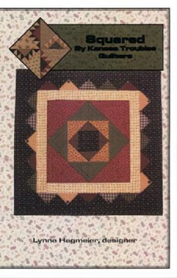 "Kansas Troubles Squared Pattern Wall Quilt 28"" x 28"""