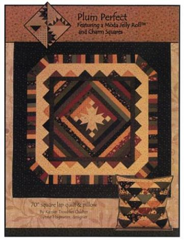 Kansas Troubles Plum Perfect Pattern Lap Quilt & Pillow