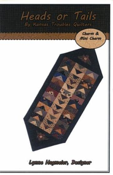 "Kansas Troubles Heads or Tails Pattern Table Runner 16"" x 41"""