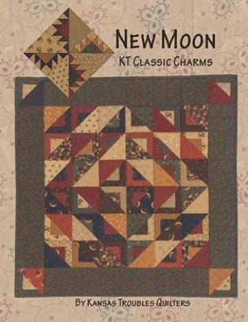 "Kansas Troubles New Moon Pattern Wall or Mini Quilt 32"" x 32"""