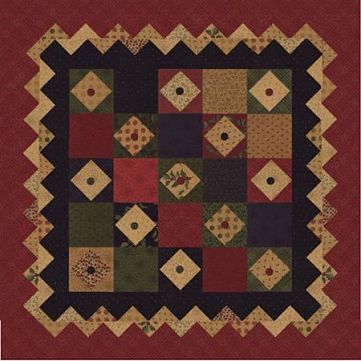 "Kansas Troubles A Wish & A Prayer Pattern Wall or Mini Quilt 37"" x 37"""
