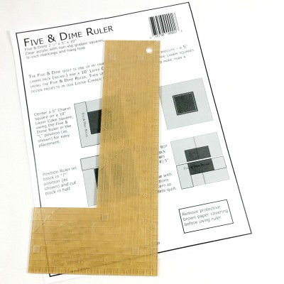 KT Five & Dime Ruler Quilt Block Template