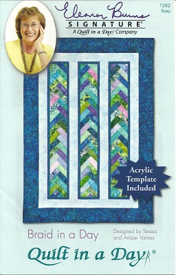 P1282 Quilt Pattern Braid In A Day Includes Acrylic Template