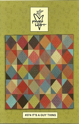 P374 It's A Guy Thing Quilt Pattern by Gervais Size 81 x 87