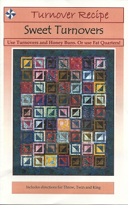 CQS045 Sweet Turnover Quilt Pattern 3 Sizes Throw Twin King