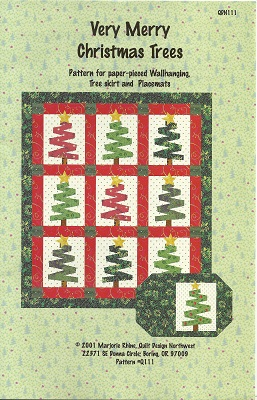 P0111 Very Merry Christmas Tree Quilt Pattern 3 Paper Pieced Projects